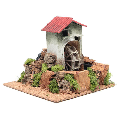 Water mill for nativities measuring 23x25x25cm 3