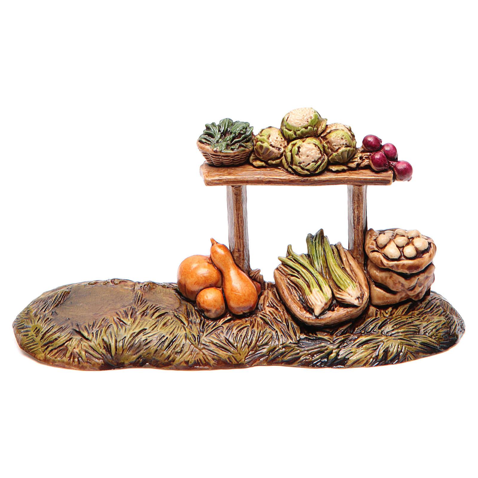Banco del fruttivendolo per presepe Moranduzzo cm 10 4