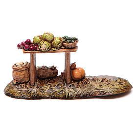 Banco del fruttivendolo per presepe Moranduzzo cm 10 s2