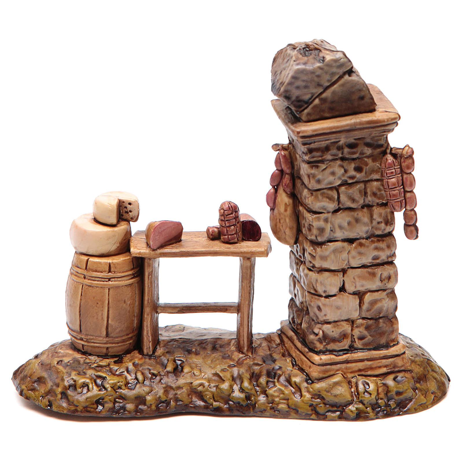 Banca do açougueiro para presépio Moranduzzo 10 cm 4