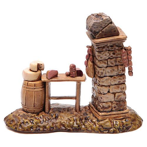 Banca do açougueiro para presépio Moranduzzo 10 cm 1