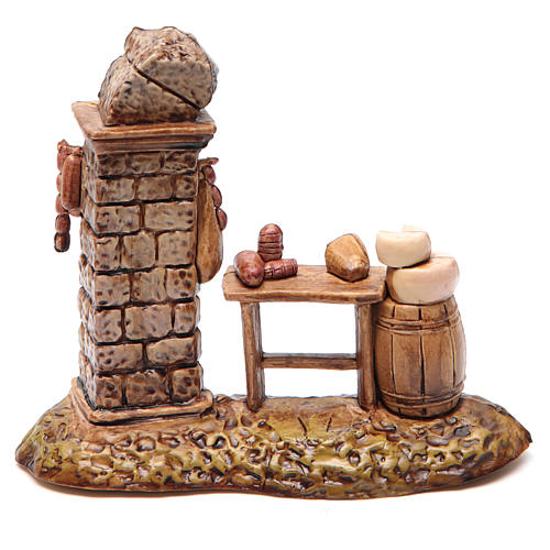Banca do açougueiro para presépio Moranduzzo 10 cm 2