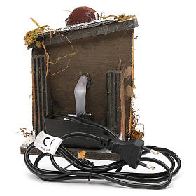 Neapolitan Nativity accessory: fountain in wood and cork 16x14.5x14cm s4