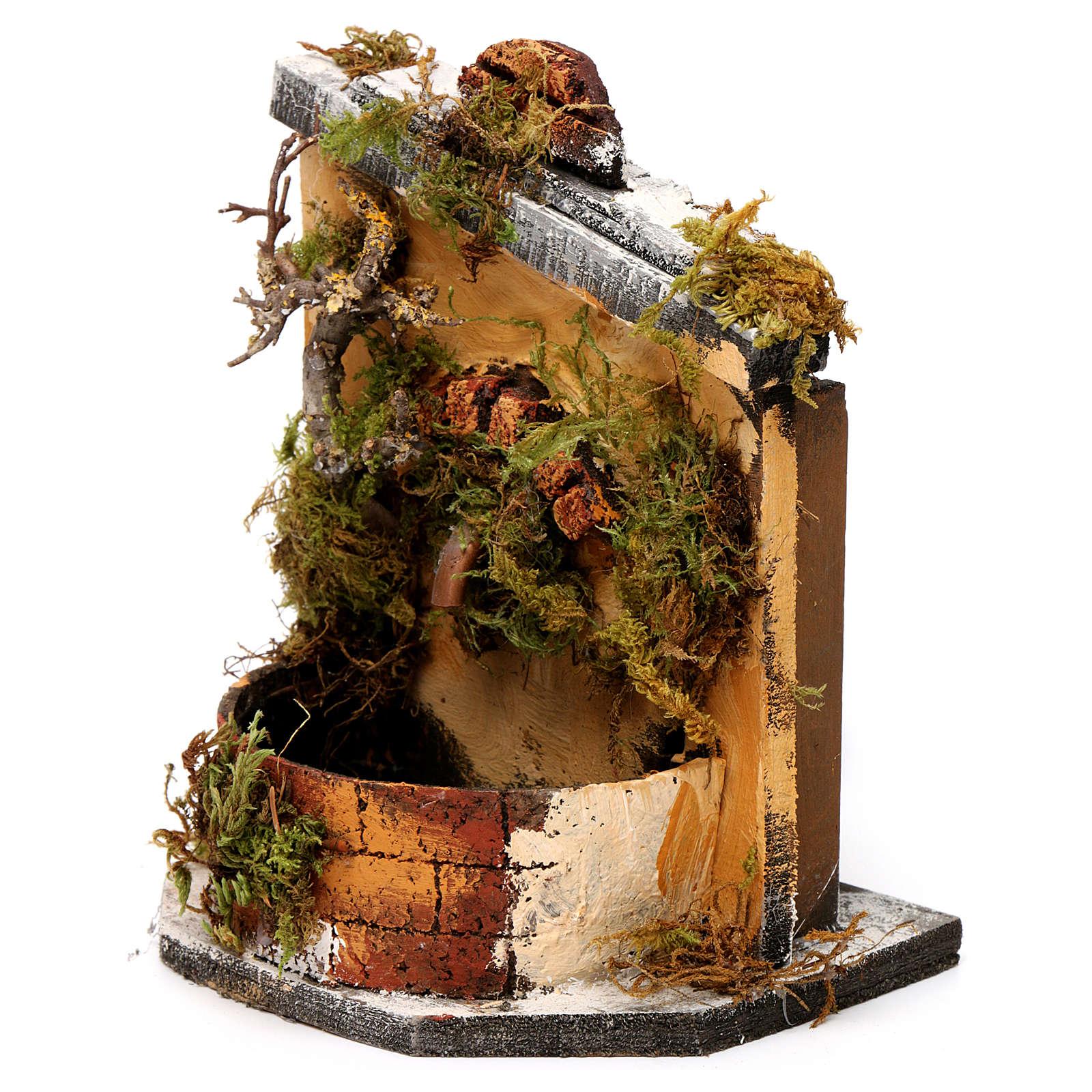 Fuente madera y corcho belén Nápoles 16x14.5x14 4