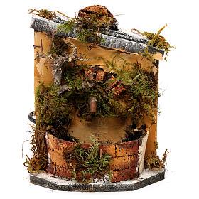 Fuente madera y corcho belén Nápoles 16x14.5x14 s1