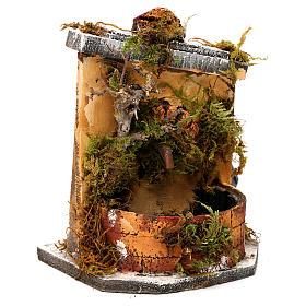 Fuente madera y corcho belén Nápoles 16x14.5x14 s3