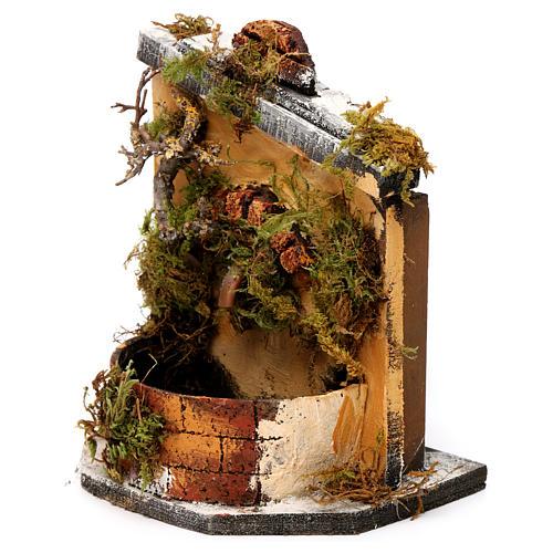 Fuente madera y corcho belén Nápoles 16x14.5x14 2