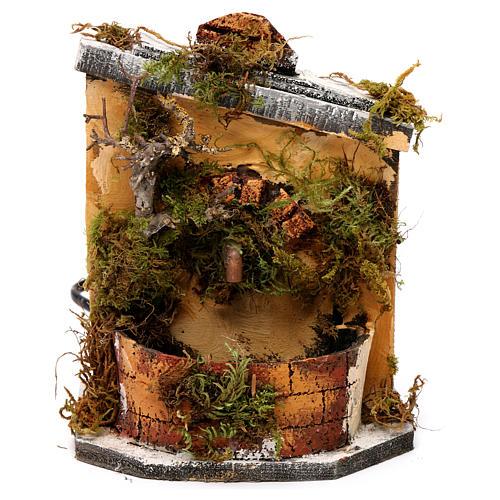 Fontaine bois et liège crèche Naples 16x14,5x14 cm 1