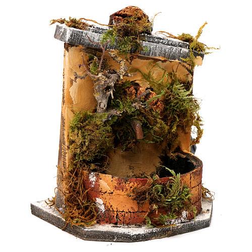 Fontaine bois et liège crèche Naples 16x14,5x14 cm 3