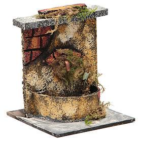 Fontana elettrica legno sughero presepe napoletano 16x14,5x14 s3