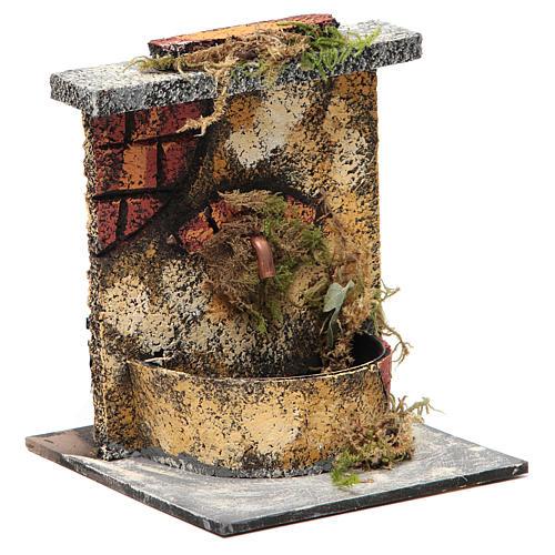 Fontana elettrica legno sughero presepe napoletano 16x14,5x14 3