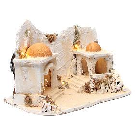 Décor arabe avec cabane crèche napolitaine 34x48x29 cm s3