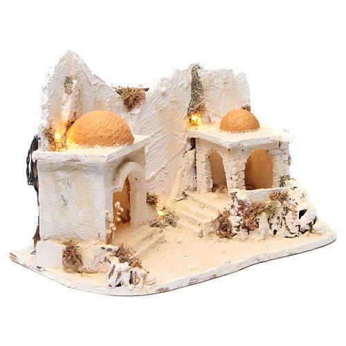 Décor arabe avec cabane crèche napolitaine 34x48x29 cm 3