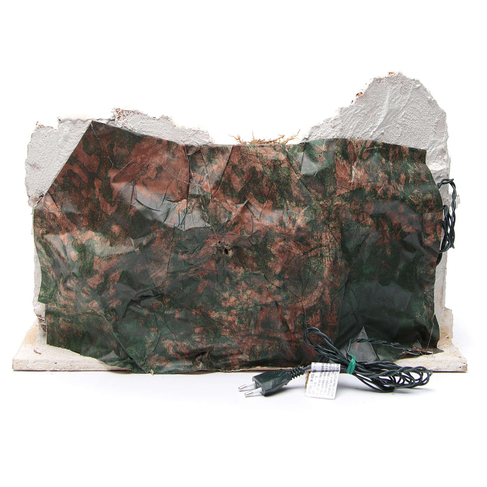 Ambientazione araba con capanna presepe napoletano 34x48x29 4