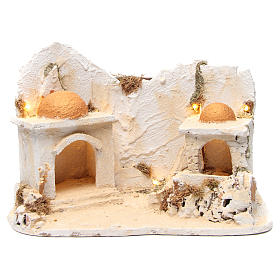 Arabian setting with stable for Neapolitan Nativity 34x48x29cm s1