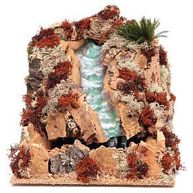 Ponts, ruisseaux, palissades pour crèche: Chute d'eau arabe crèche 25x25x40 cm