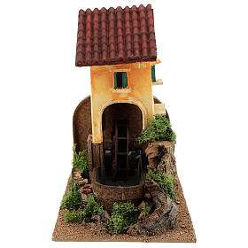 Water mill for nativities 16x25x17cm s1