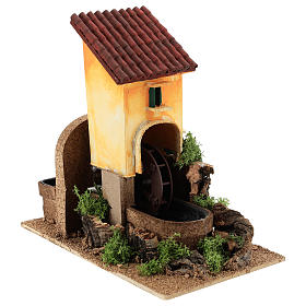 Water mill for nativities 16x25x17cm s3