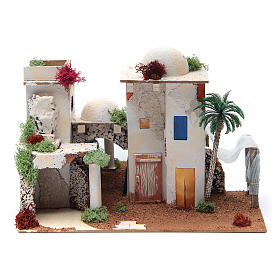 Maison arabe avec miroir de 25x35x20 cm s1