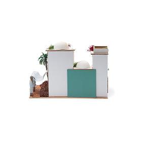 Maison arabe avec miroir de 25x35x20 cm s4