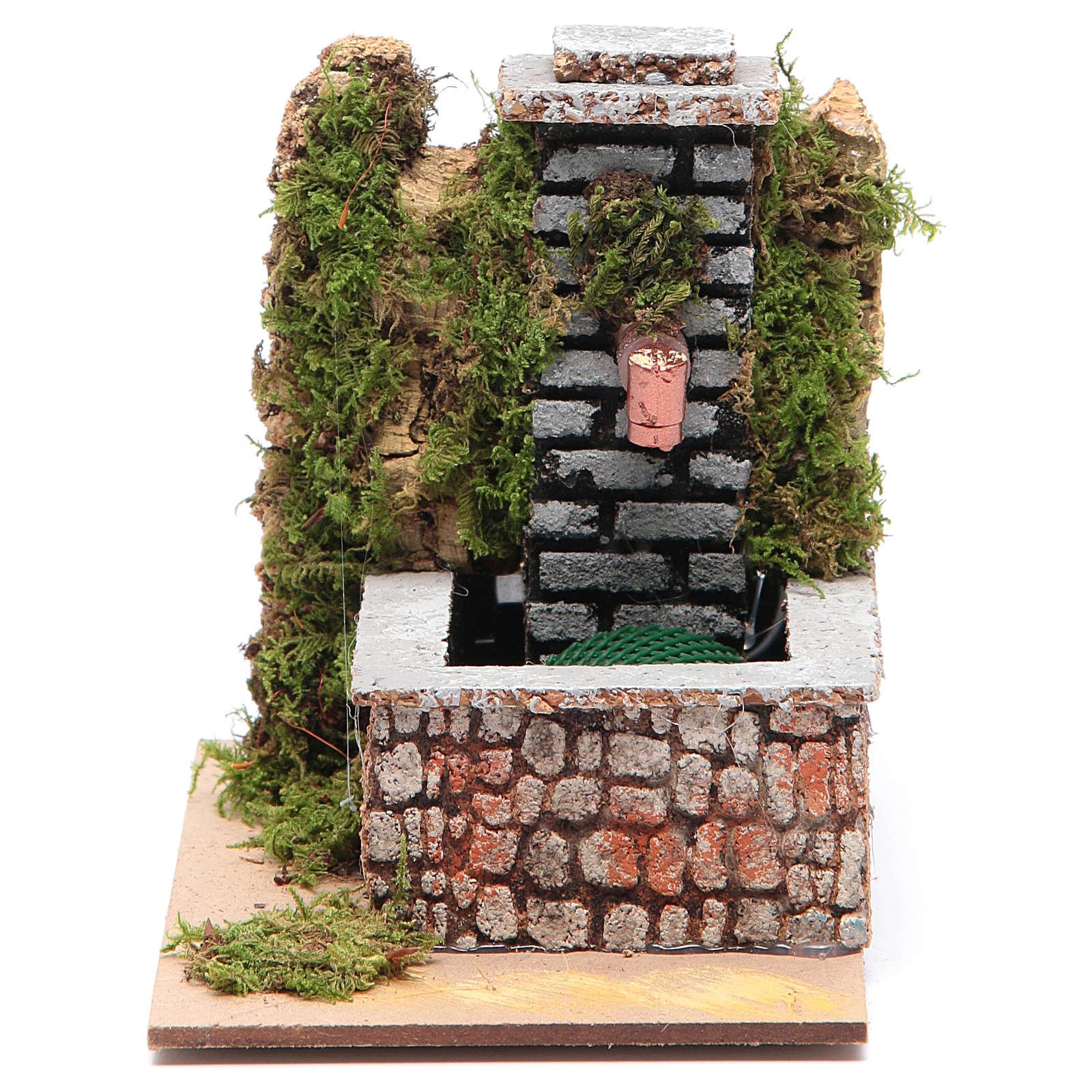 Fontana resina con pompa a riciclo d'acqua di dimensioni 10x10x15 4