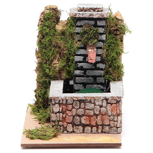 Fontana resina con pompa a riciclo d'acqua di dimensioni 10x10x15 1