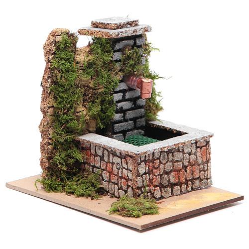 Fontana resina con pompa a riciclo d'acqua di dimensioni 10x10x15 2