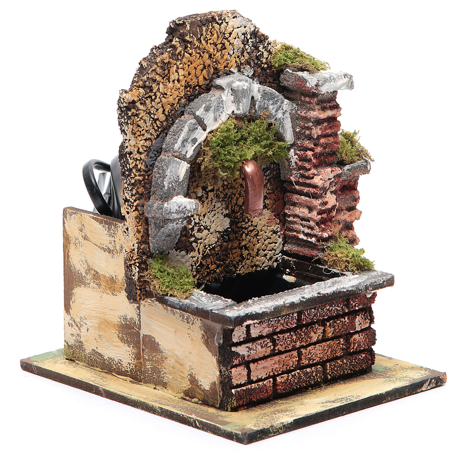 Arched fountain with submersible pump 15x10x15 cm 4