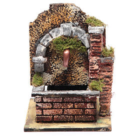 Arched fountain with submersible pump 15x10x15 cm s1