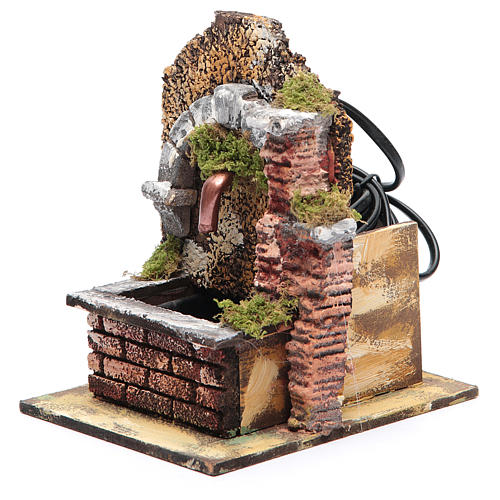 Arched fountain with submersible pump 15x10x15 cm 3