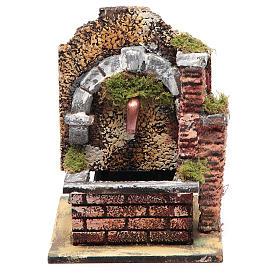 Fontaine avec pompe à immersion et arc 15x10x15 cm s1