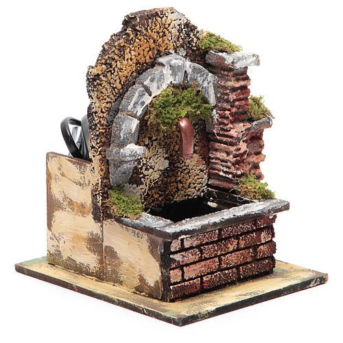 Fontaine avec pompe à immersion et arc 15x10x15 cm 2