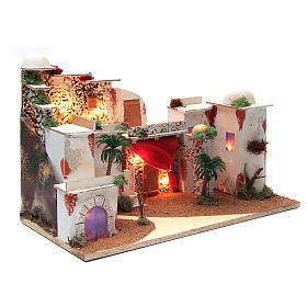 Arabian landscape for nativity scene with lights 30x50x25 cm s2