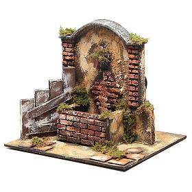 Fontaine bricolage de crèche 25x25x20 cm en résine s3