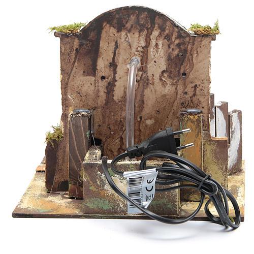 Fontaine bricolage de crèche 25x25x20 cm en résine 4