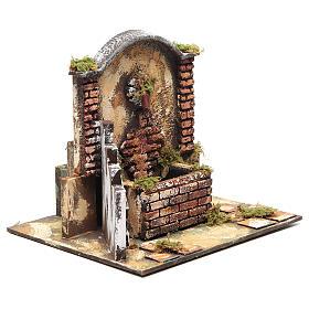 Resin fountain for DIY nativity scene 25x25x20 cm s2