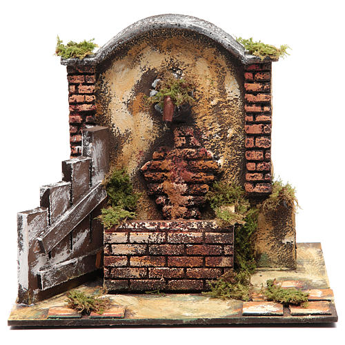 Resin fountain for DIY nativity scene 25x25x20 cm 1