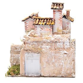 Presepe con grotta e un gruppo di case 25x25x20 cm s4