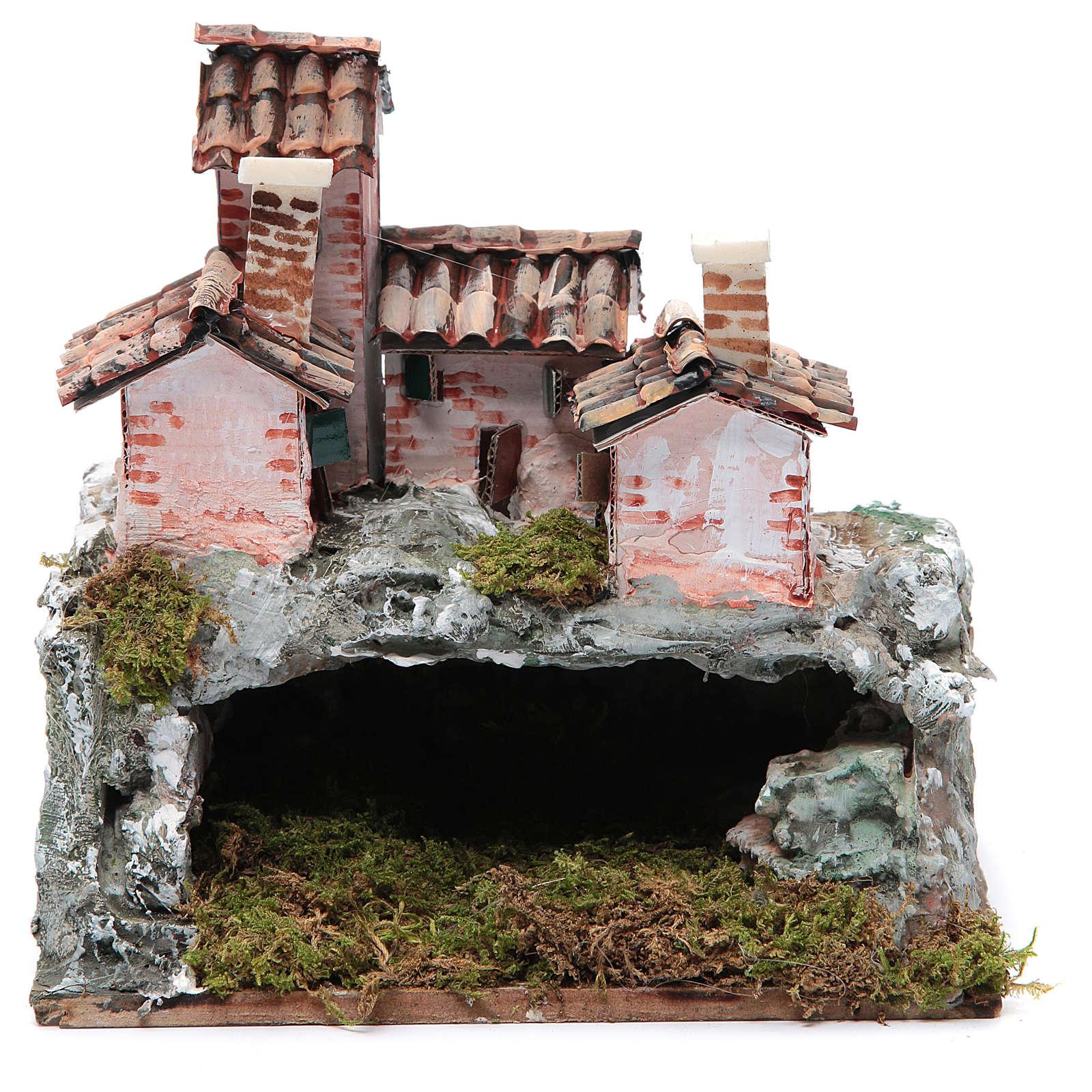 Nativity scene with rocky landscape 20x20x15 cm 4
