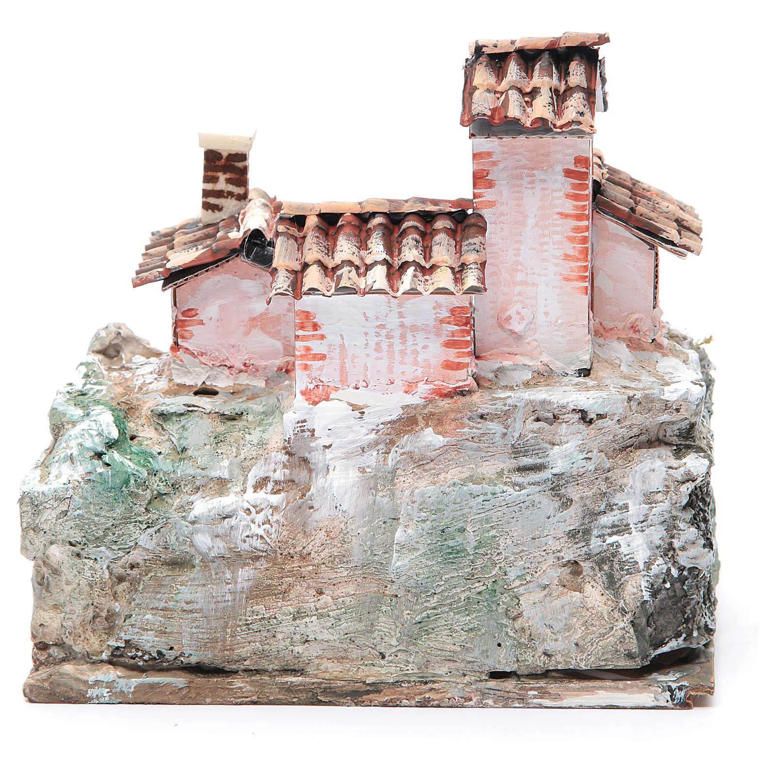 Crèche avec paysage de type rocheux 20x20x15 cm 4