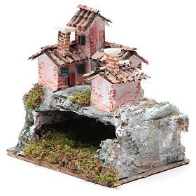 Crèche avec paysage de type rocheux 20x20x15 cm s2