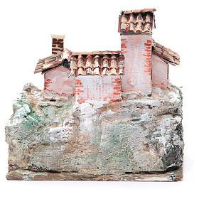 Crèche avec paysage de type rocheux 20x20x15 cm s4