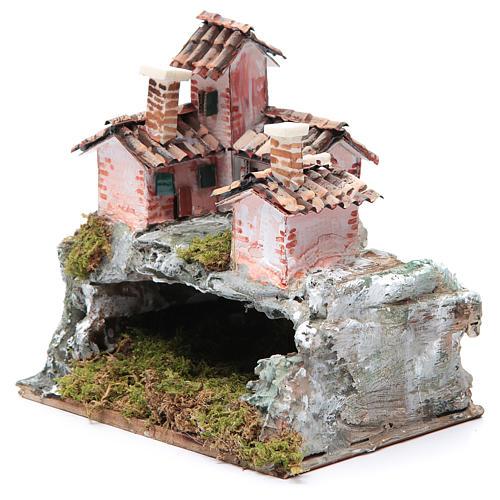 Crèche avec paysage de type rocheux 20x20x15 cm 2