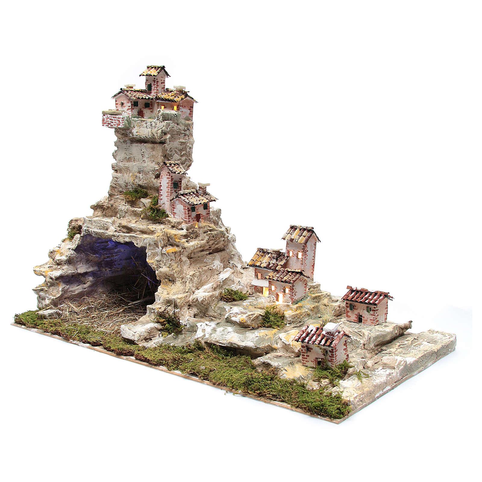 Crèche rocheuse avec éclairage 50x75x40 cm 4