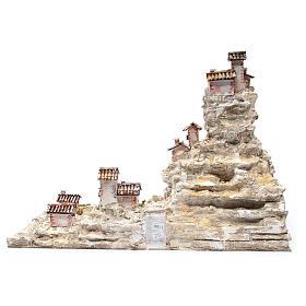 Crèche rocheuse avec éclairage 50x75x40 cm s4