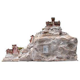 Rocky nativity scene landscape and lights 50x75x50 cm s4