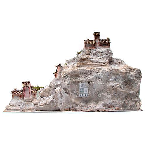 Belén con paisaje rocoso y luces 50x70x50 cm 4