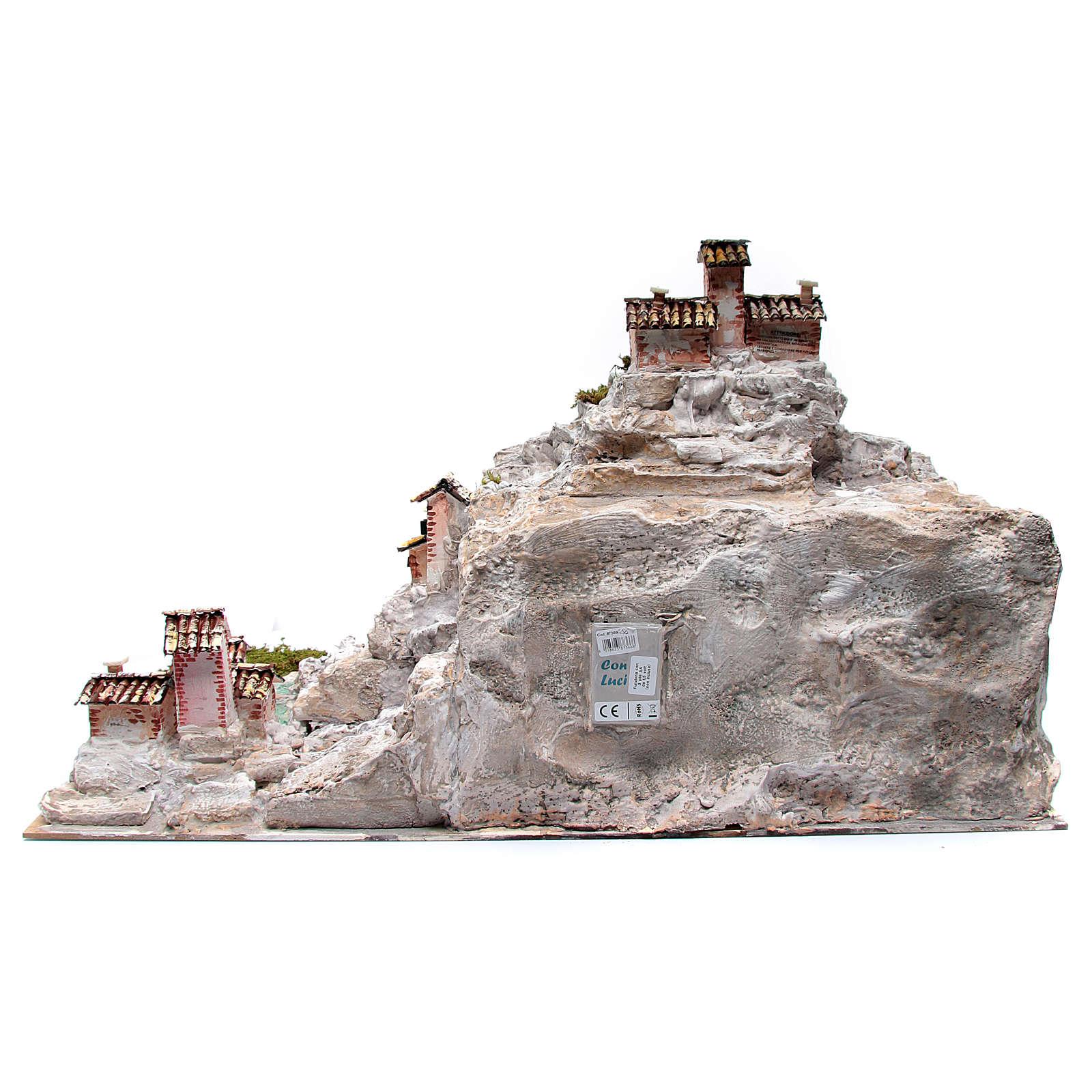 Rocky nativity scene landscape and lights 50x75x50 cm 4