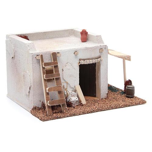 Casa Araba con tenda polistirene 25x20xh15 cm 3