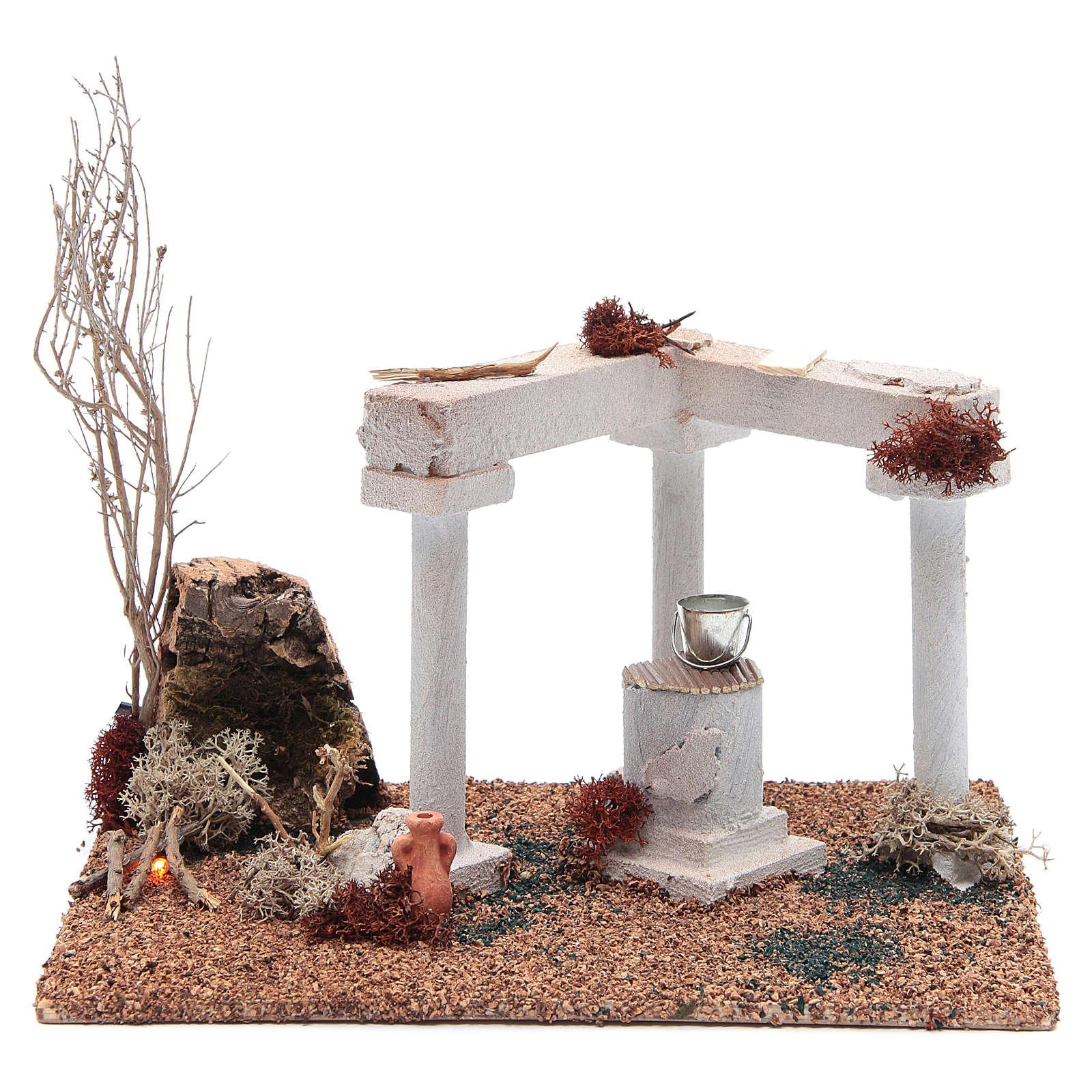 Décor arabe puits et feu led 25x20x15 cm 4